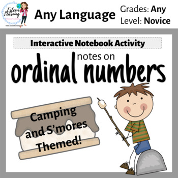 Ordinal Numbers Interactive Notebook Activity - Camping an