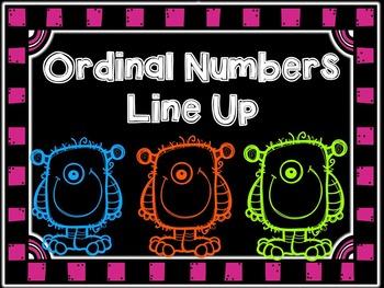 Ordinal Numbers Line Up Sampler Freebie
