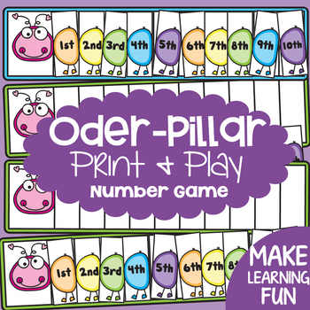 Ordinal Numbers {Math Activities Pack #14} Math Games and Centers