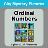 Ordinal Numbers - Math Mystery Pictures / Color By Number - City