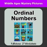 Ordinal Numbers - Math Mystery Pictures / Color By Number