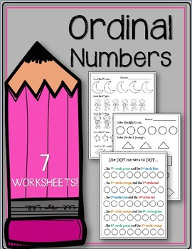 Ordinal Numbers. Math. Worksheets. Kindergarten. K5 Math