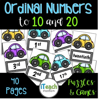 Ordinal Numbers Mini Unit