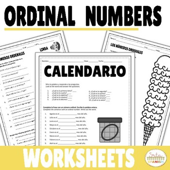 Ordinal Numbers and Months of the Year Worksheet