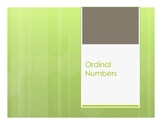 Spanish Ordinal Numbers Notes