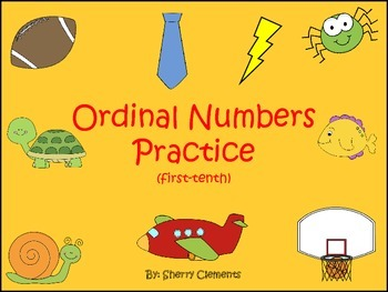 Ordinal Numbers Practice (first-tenth)