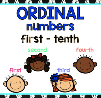 Ordinal Numbers! Printables, posters, mini reader, and center activities!