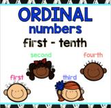 Ordinal Numbers! Printables, posters, mini reader, flip bo