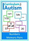 Roman Numerals Tally Marks Ordinal Numbers Memory Pairs Autism