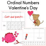 Ordinal Numbers Sequencing Valentine's Day Theme