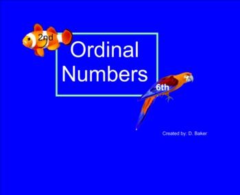 Ordinal Numbers Smartboard Practice
