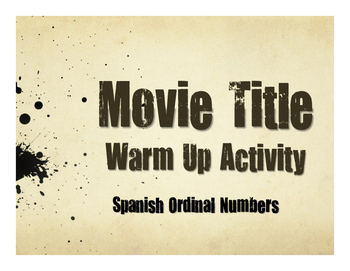 Spanish Ordinal Numbers Movie Titles