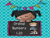 Ordinal Number Mini Posters- Sports Themed
