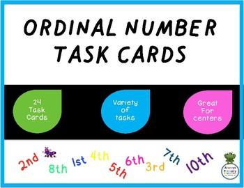 Ordinal Numbers Task Cards