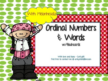 Ordinal Numbers Task/Flash Cards