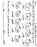 Ordinal Numbers Ten Little Rubber Ducks by Eric Carle worksheet