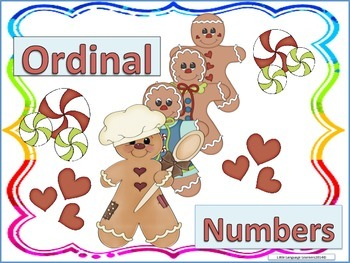 ESL Activity: Ordinal Numbers-Vocabulary Development Cards-ELL Newcomers Too!