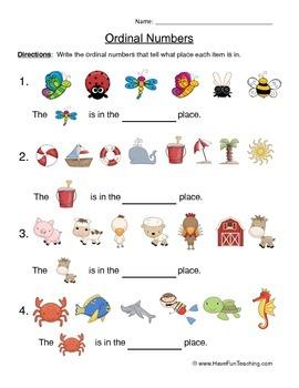 Ordinal Numbers Worksheet by Have Fun Teaching   TpT
