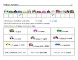 Ordinal Numbers Worksheet Differentiated - Kindergarten to