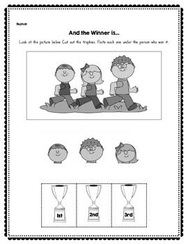 Ordinal Numbers - Worksheets and Cards for Games and Centers