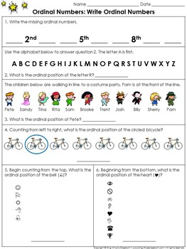 Ordinal Numbers: Write Ordinal Numbers Practice Sheets - King Virtue