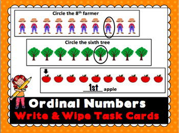 Ordinal Numbers Write and Wipe Cards