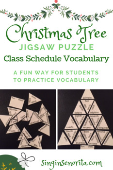 Ordinal Numbers and Adjectives Christmas Tree Puzzle