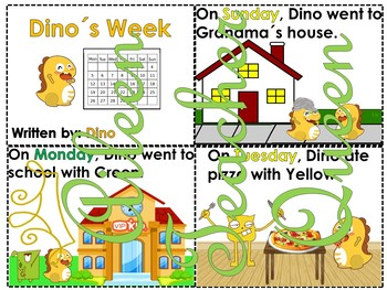 Ordinal Numbers and Days of the Week Monster Friends AND Dino's Week Booklet