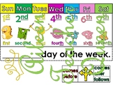 Ordinal Numbers and Days of the Week Monster Friends AND D