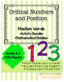 Ordinal Numbers and Position Words - Activity Packet