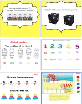 Ordinal Numbers and Tally Marks to ten
