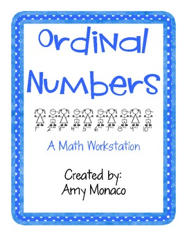 Ordinal Numbers based on a Debbie Diller Math Workstation