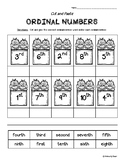 Ordinal Numbers to 10 Cut and Paste Worksheet Pack