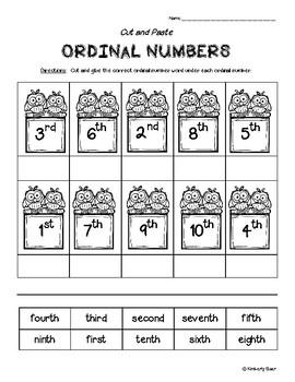 11+ Printable Ordinal Numbers Worksheet For Kindergarten Gif