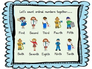 Ordinal Numbers with Community Helpers