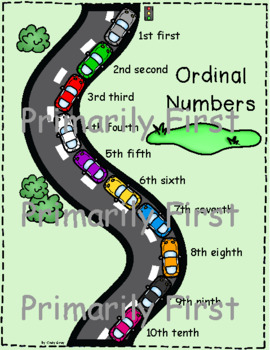Ordinal Numbers Chart