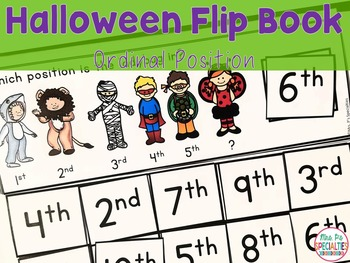 Ordinal Position Flip Books For Halloween