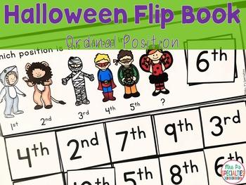 Ordinal Position Flip Books For Halloween
