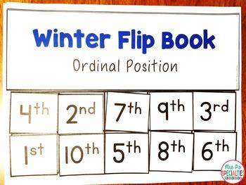 Ordinal Position Flip Books For Winter