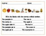 Ordinal Word Practice