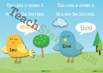 Ordinal and Cardinal Number Posters