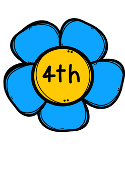 Ordinal number flower posters