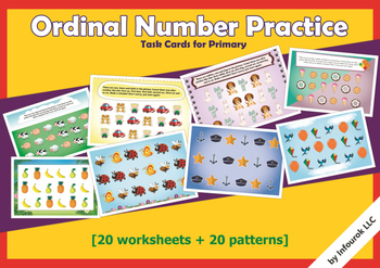 Ordinal numbers practice cards