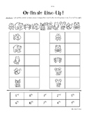 Ordinals Line-Up!  Line Position to 10 Cut and Glue Worksheet