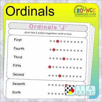 Ordinals (12 Literacy sheets)