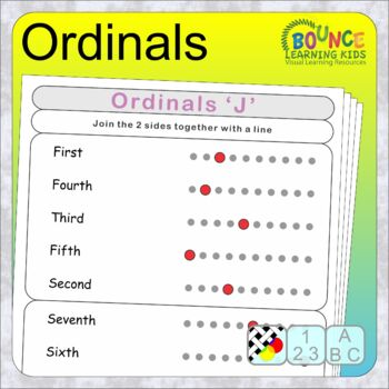 Ordinals (12 distance learning Literacy sheets)