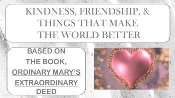 Ordinary Mary CARING Character Ed PBIS Guidance Lesson w 3 video links & project