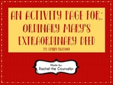 Ordinary Mary's Extraordinary Deed Activity Page