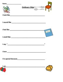 Ordinary Object Poetry Template by Librarian Lounge | TpT