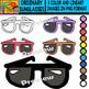 Ordinary Sunglasses - Colorful Cliparts Set - 11 Items